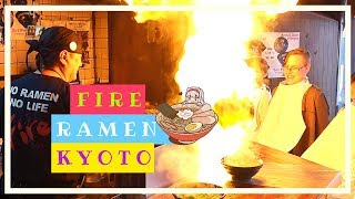 KYOTO CRAZY FIRE RAMEN (YOU MUST TRY) & Bamboo Forest Guide   Japan Travel Vlog