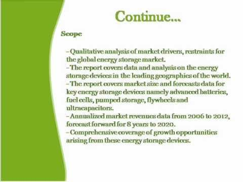 Bharat Book Presents : Global Energy Storage Market to 2020
