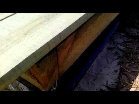 видео: Нижняя обвязка сарая своими руками