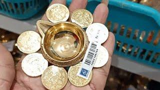 Rs.54 Kitchen Glassware Ceramic Jar Pooja Brass Collection Lakshmi Coin Vilaku |Porur Saravana Store