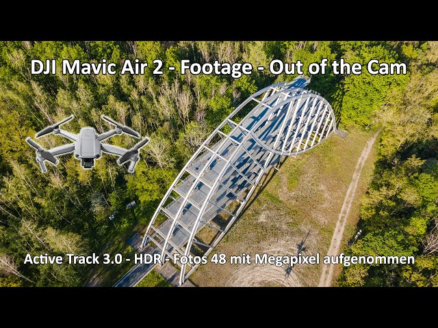 4k // DJI Mavic Air 2 - Footage Out of the Cam - Active Track 3.0 - Bitterfelder Bogen - Natur Pur