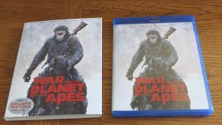 Unboxing WAR FOR THE PLANET OF THE APES - Blu-ray + DVD + Digital HD