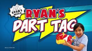 Ryan's Dart Tag Ryan vs Combo Panda 6 Shot Blaster & Targets   Ryan's World Blasters