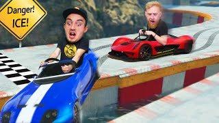 DON'T Slip Off The Stunt Track Challenge! | GTA5