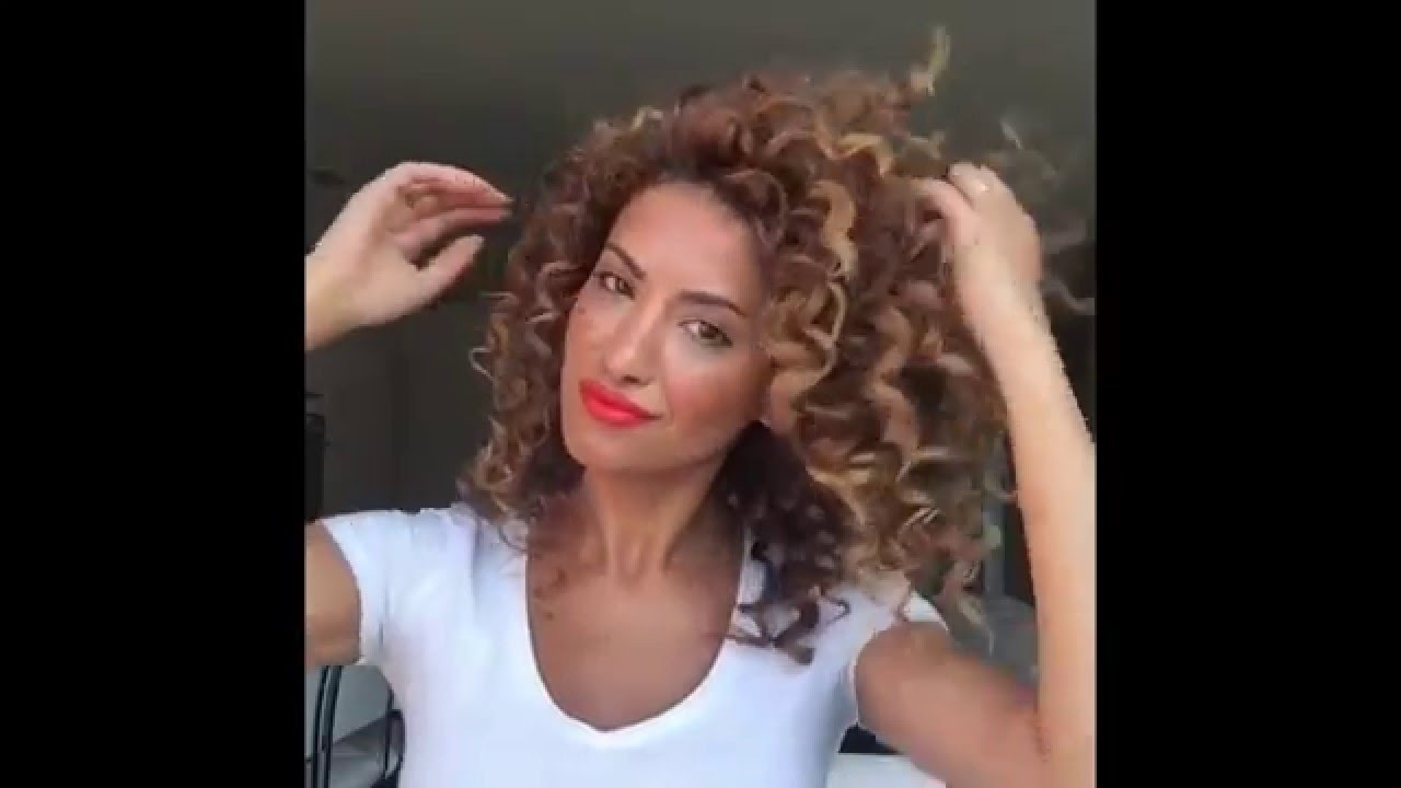 Big Bouncy Curls By Sarah Angius YouTube