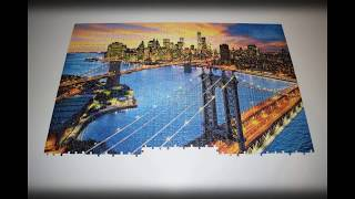 """"""" New York """"city 1000 pieces Puzzle in 2 Minutes by Irmuun's Family ( Time Lapse )"""