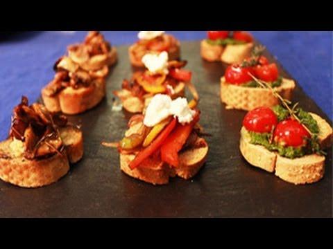 Bruschetta Platter -- Quick Appetizer Recipe