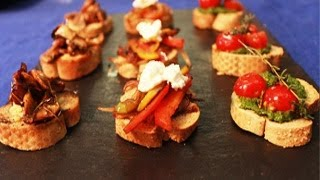 Bruschetta Platter -- Quick Appetizer Recipe