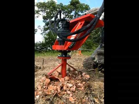 Stumpex Stump Grinder For Skid Steers Youtube