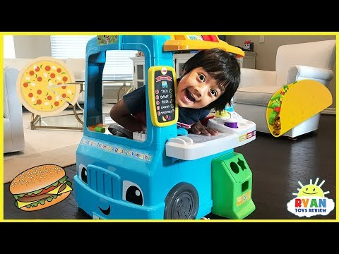 Thumbnail: Pretend Play Food Toys Cooking Foods Truck! Fisher Price Laugh & Learn educational toys for Children