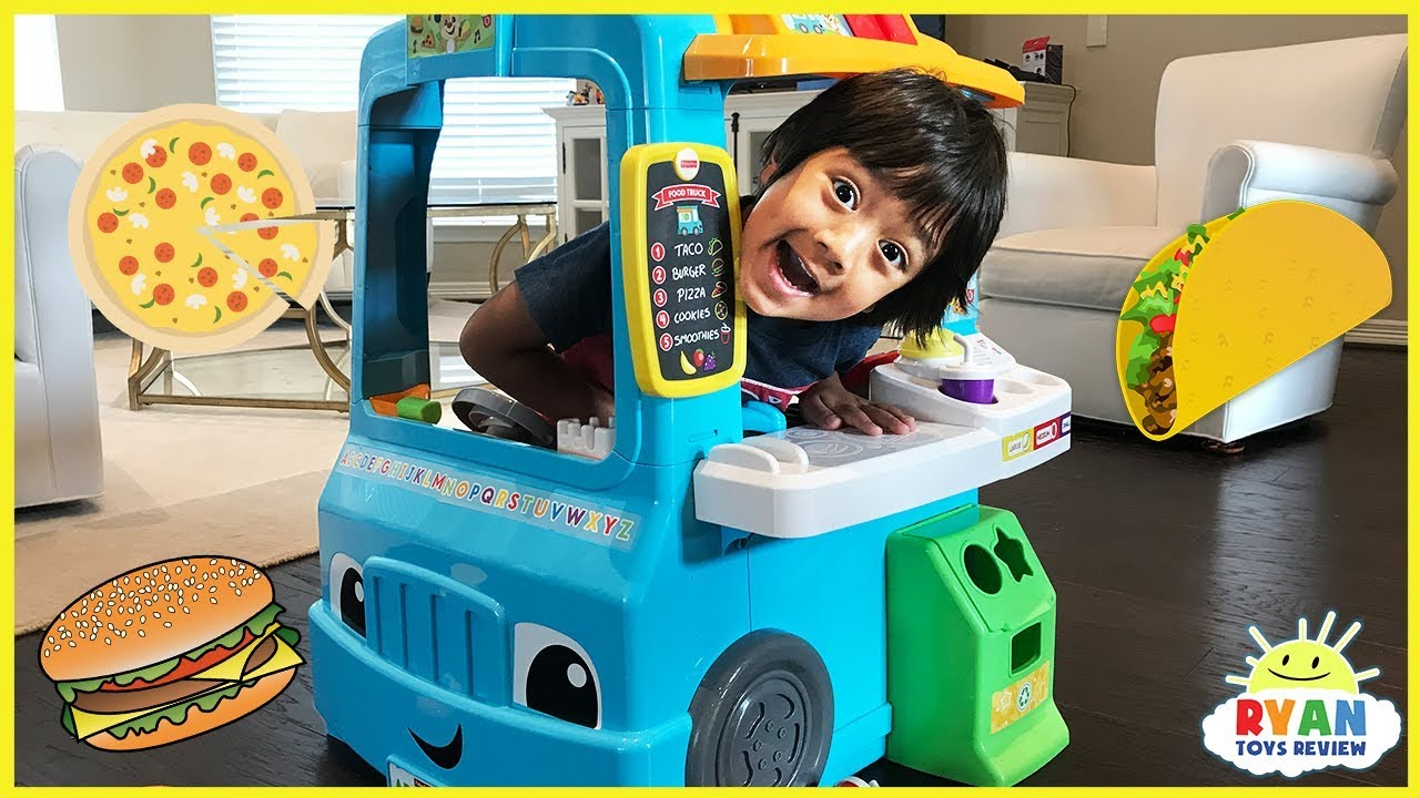 Pretend Play Food Toys Cooking Truck with Ryan ToysReview - YouTube