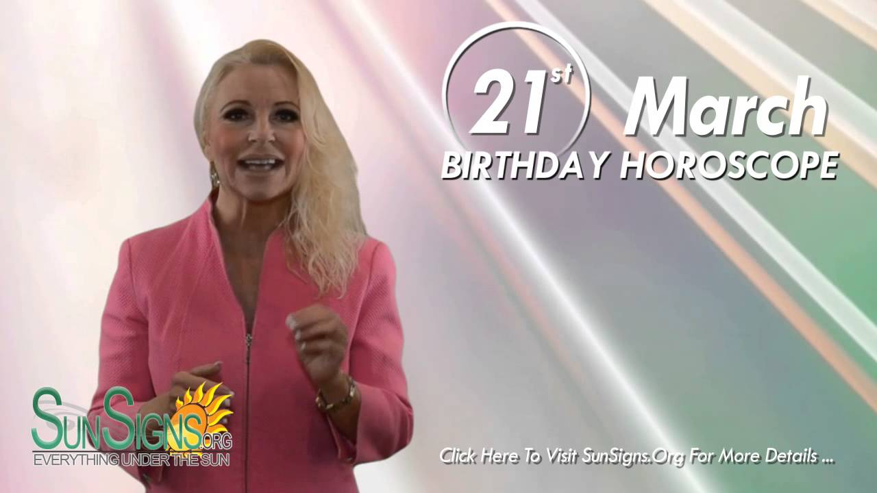 21 st march horoscope