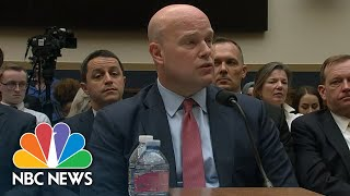 Hakeem Jeffries To Matthew Whitaker: 'Keep Your Hands Off' The Mueller Probe | NBC News