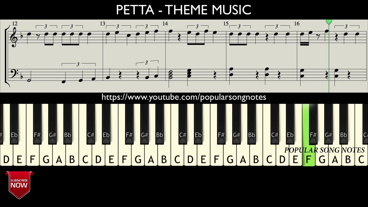 Petta Theme Music How To Play Music Notes Youtube