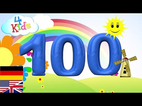 Bilingual Counting Numbers 1-100 english and german. Learn to count for children