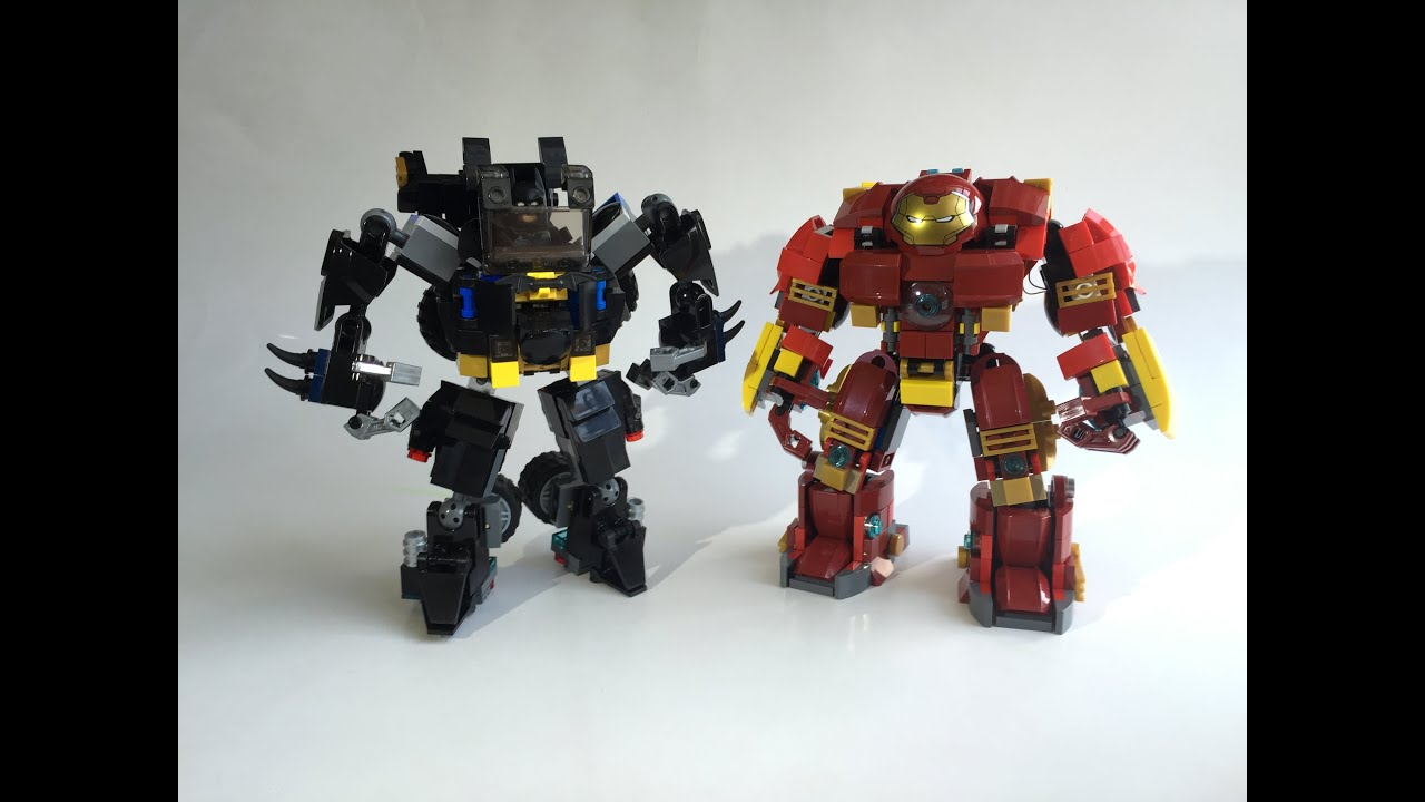 LEGO Batmobile Mecha VS Hulkbuster Custom Moc   YouTube