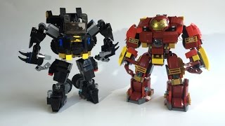 LEGO Batmobile Mecha VS Hulkbuster custom moc