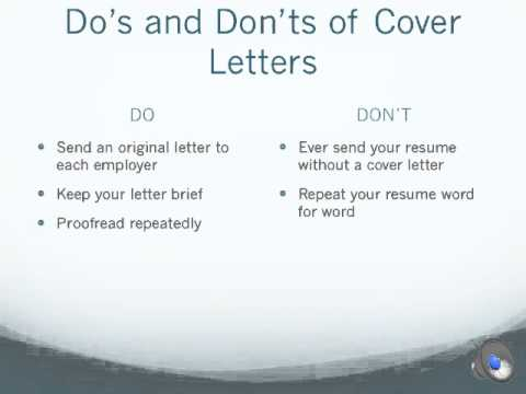 Resumes And Cover Letters Ppt With Audio Youtube