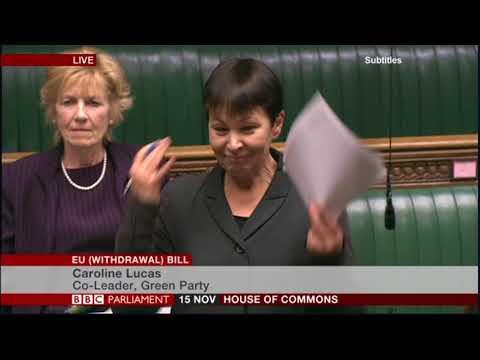 Caroline Lucas MP explains some truths to Anne Main MP