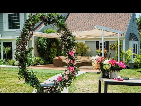 How To Diy Twig And Floral Circular Swing Hallmark