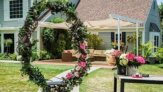 How To - DIY Twig and Floral Circular Swing - Hallmark Channel
