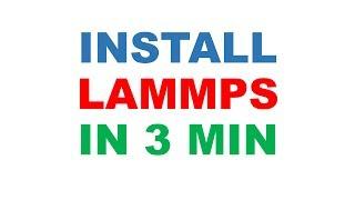Install LAMMPS on CentOS in 3 min