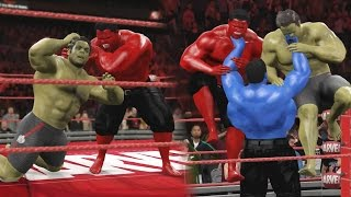HULK VS RED HULK & BLUE HULK RETURNS! - WWE 2K16 EPIC BATTLE!