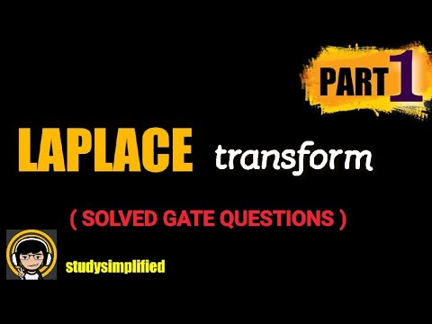 GATE solved questions on Laplace Transform ( PART 1) - YouTube