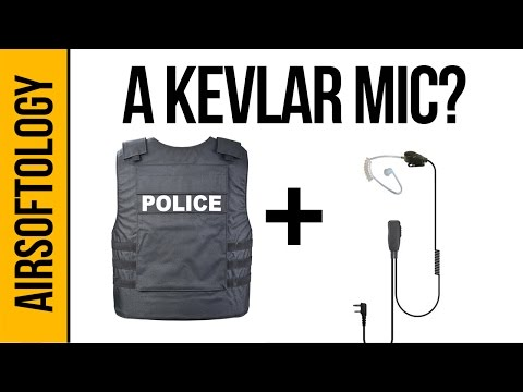 A Microphone Made from Kevlar? - Code Red Hedsets Recruit Mic   Airsoftology Review