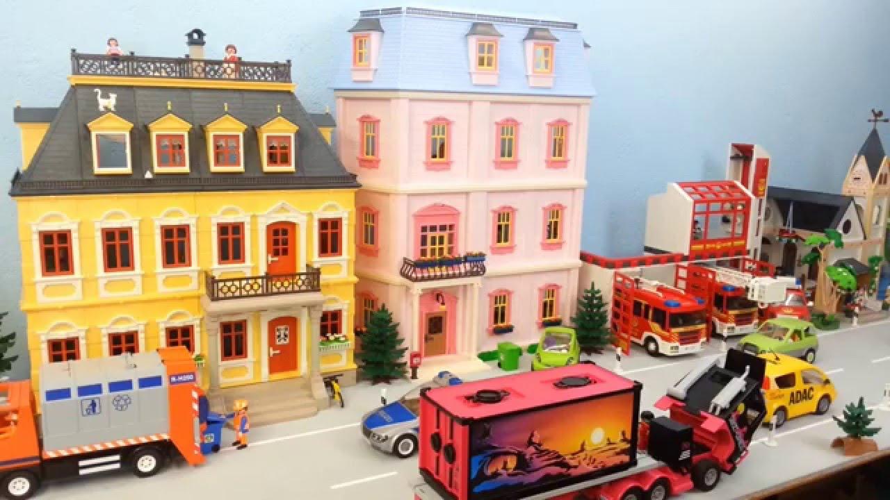 riesige playmobil stadt komplett eingerichtet seratus1. Black Bedroom Furniture Sets. Home Design Ideas