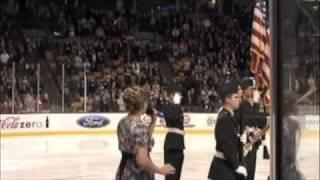 Colleen  Duffy Sings National Anthem @ Boston Garden 2010