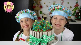 KIT-KAT CHRISTMAS CAKE With M&ms - Cake Decorating Tutorial By Charli's Crafty Kitchen