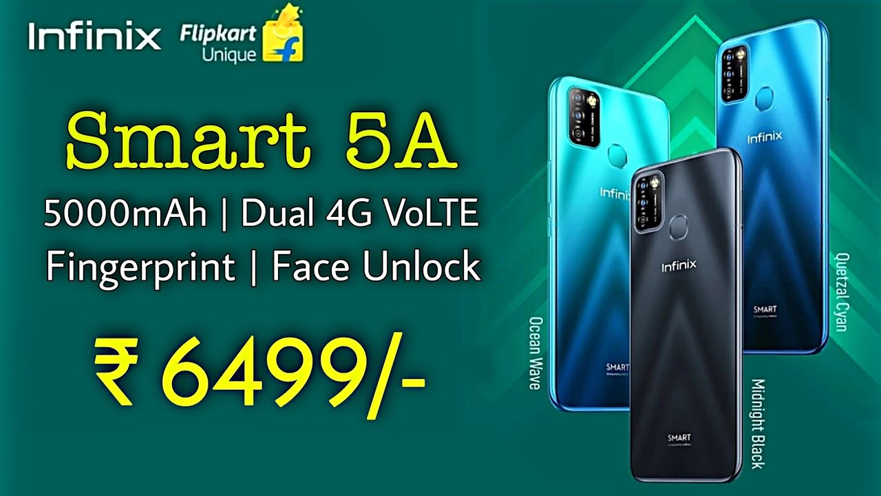 Infinix Smart 5A Launch Date Confirmed in India With 5000mAh on Flipkart ⚡Specs, Price, Review
