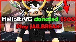 Roblox Jailbreak| RAGE QUIT ~ Trolling youtube livestreamer in GOD MOD | Speed Ep. 4