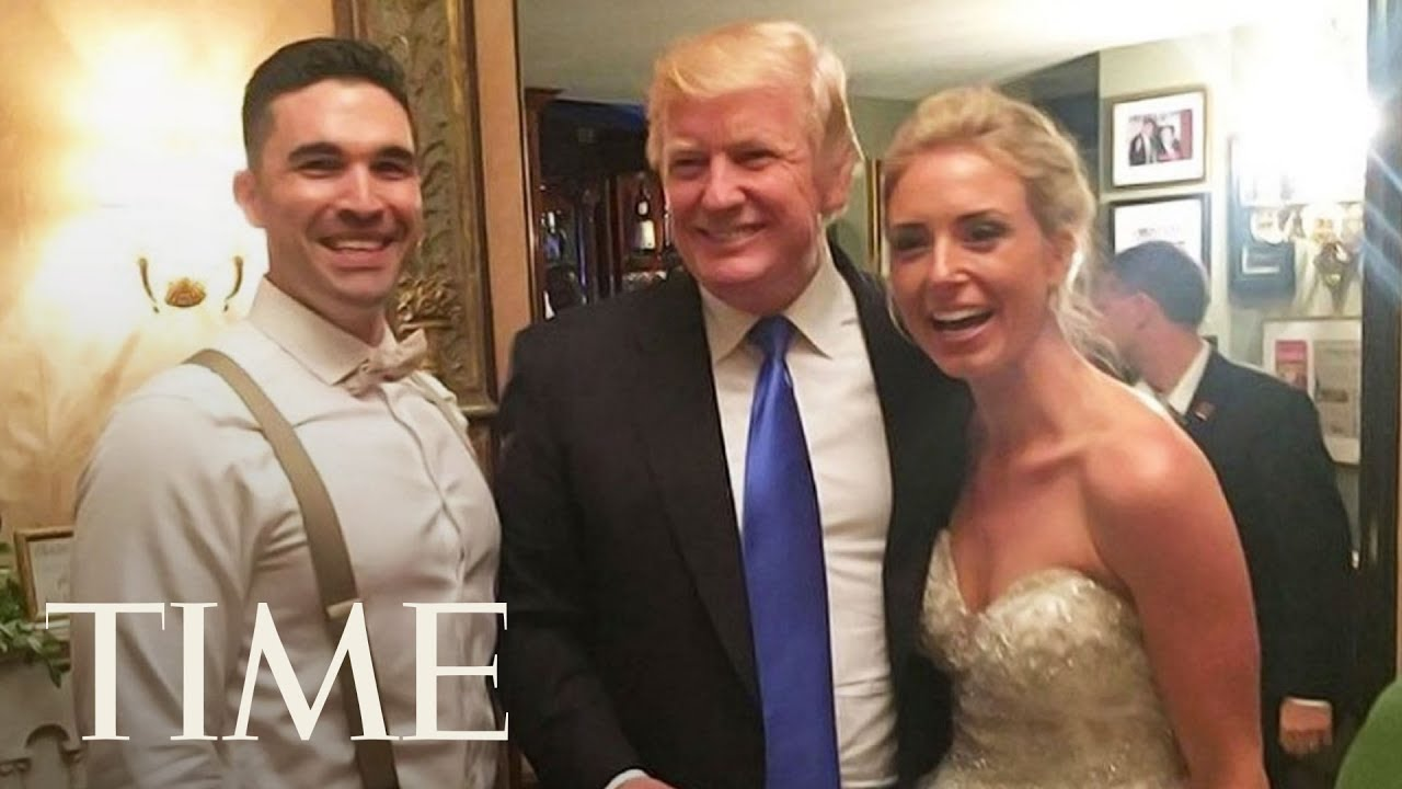 Trump Crashes Wedding.President Trump Crashed A Wedding At His Golf Club And The Internet Has Thoughts Time