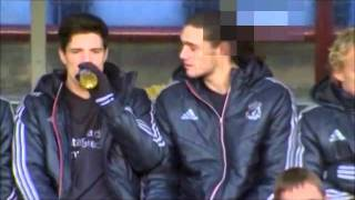 Andy Carroll Drinks Red Bull before match
