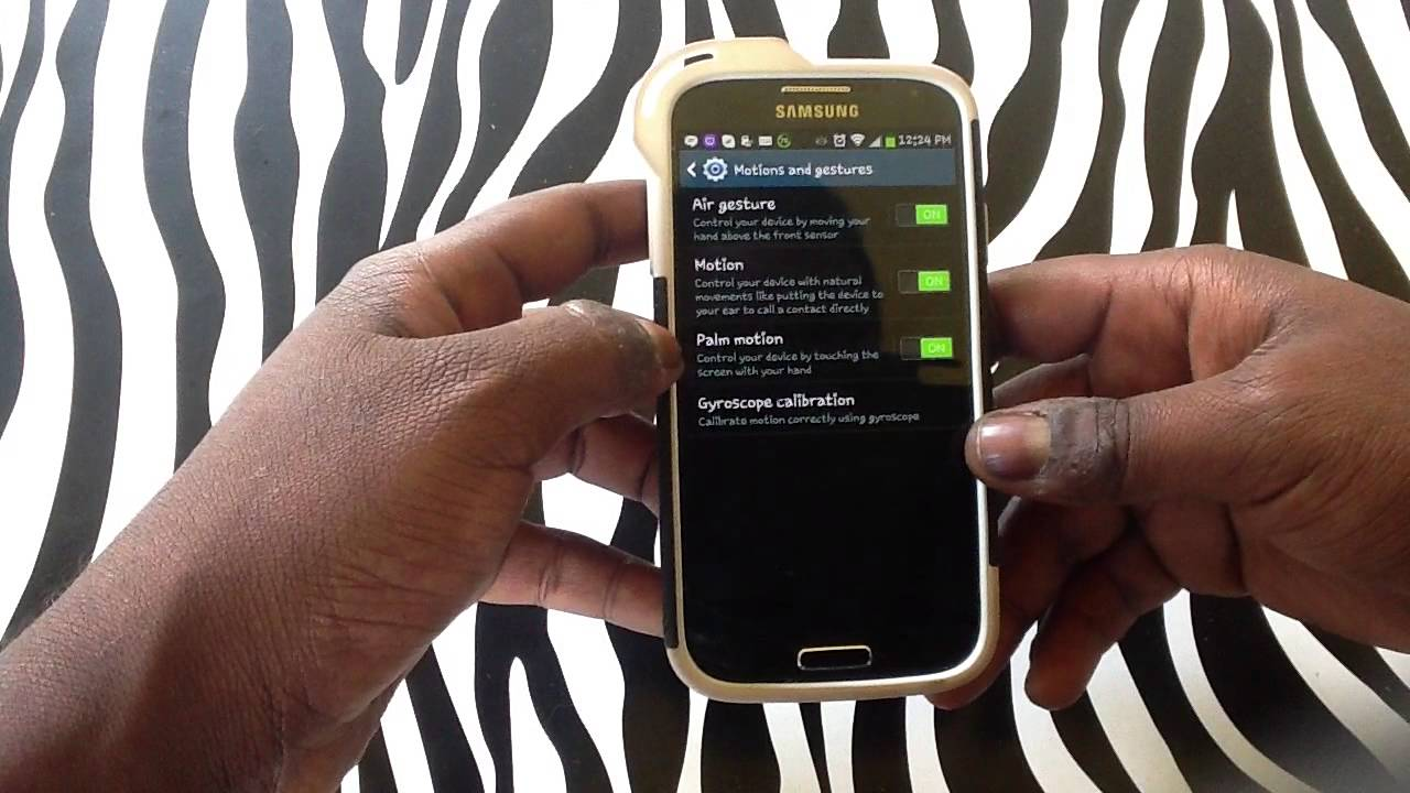 How to Calibrate the Gyroscope on Samsung Galaxy S4