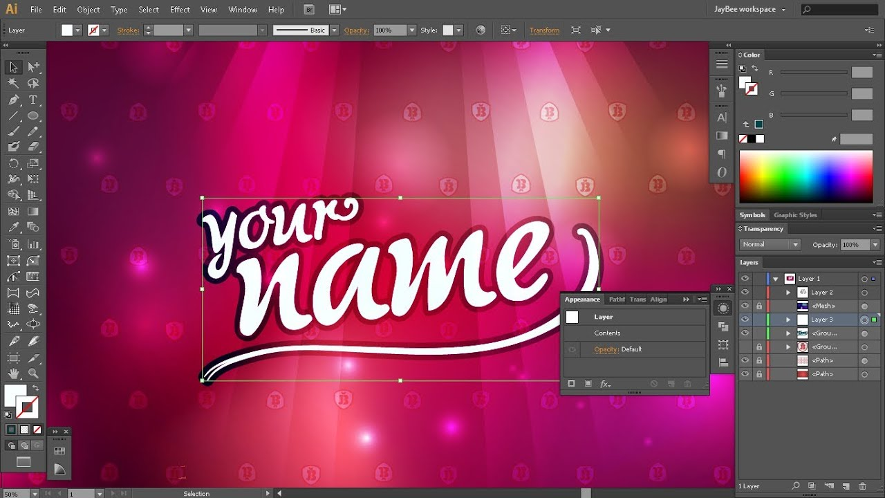 Make a Cool Wallpaper from scratch - Illustrator - YouTube