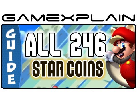 All 246 Star Coins in New Super Mario Bros. U in 53 minutes - Guide (And Secret Exits!)