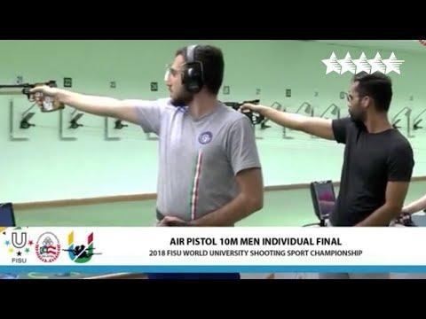 Men's Individual 50m Air Pistol individual  2018 FISU WUC Shooting Sport  Kuala Lumpur, Malaysia