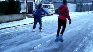 Me  Roller Skating In Da Snow / Ice
