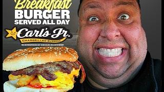 Carl's Jr.® Breakfast Burger™ REVIEW!