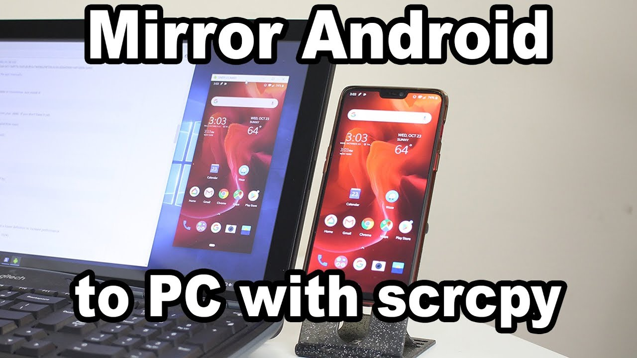 Image result for Mirror Android phone to PC using scrcpy