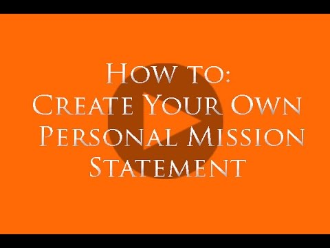 Your Personal Mission Statement - Youtube