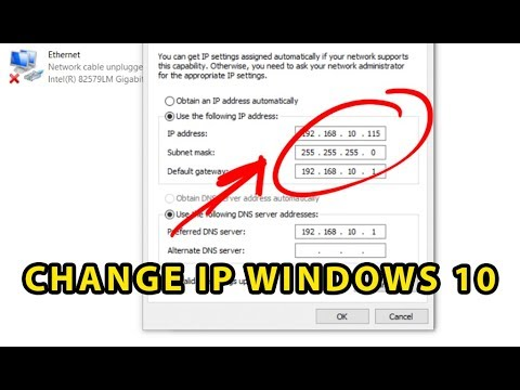 How to change IP address in Windows 10: Get Static IP Address