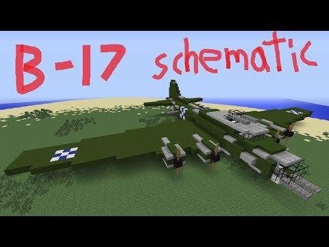 Minecraft B-17 Schematic/ Tour