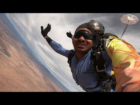 Kranthi Kumar Kukkala-Tandem Skydive In Las Vegas At Skydive Fyrosity