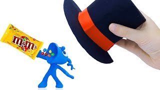 TINY PLAYING WITH MAGICAL HAT    CLAY MIXER Cartoons Play Doh Stop Motion