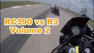 KTM RC390 vs Yamaha R3 - track edition