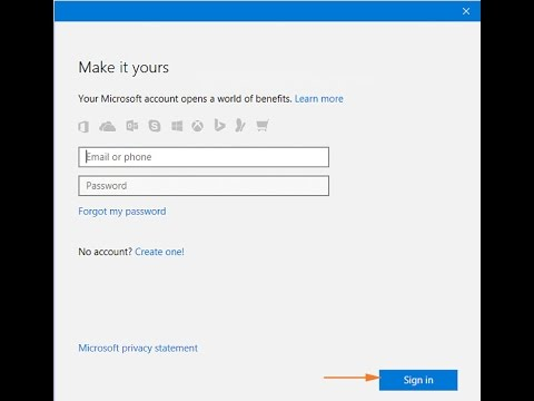 windows 10 microsoft account login